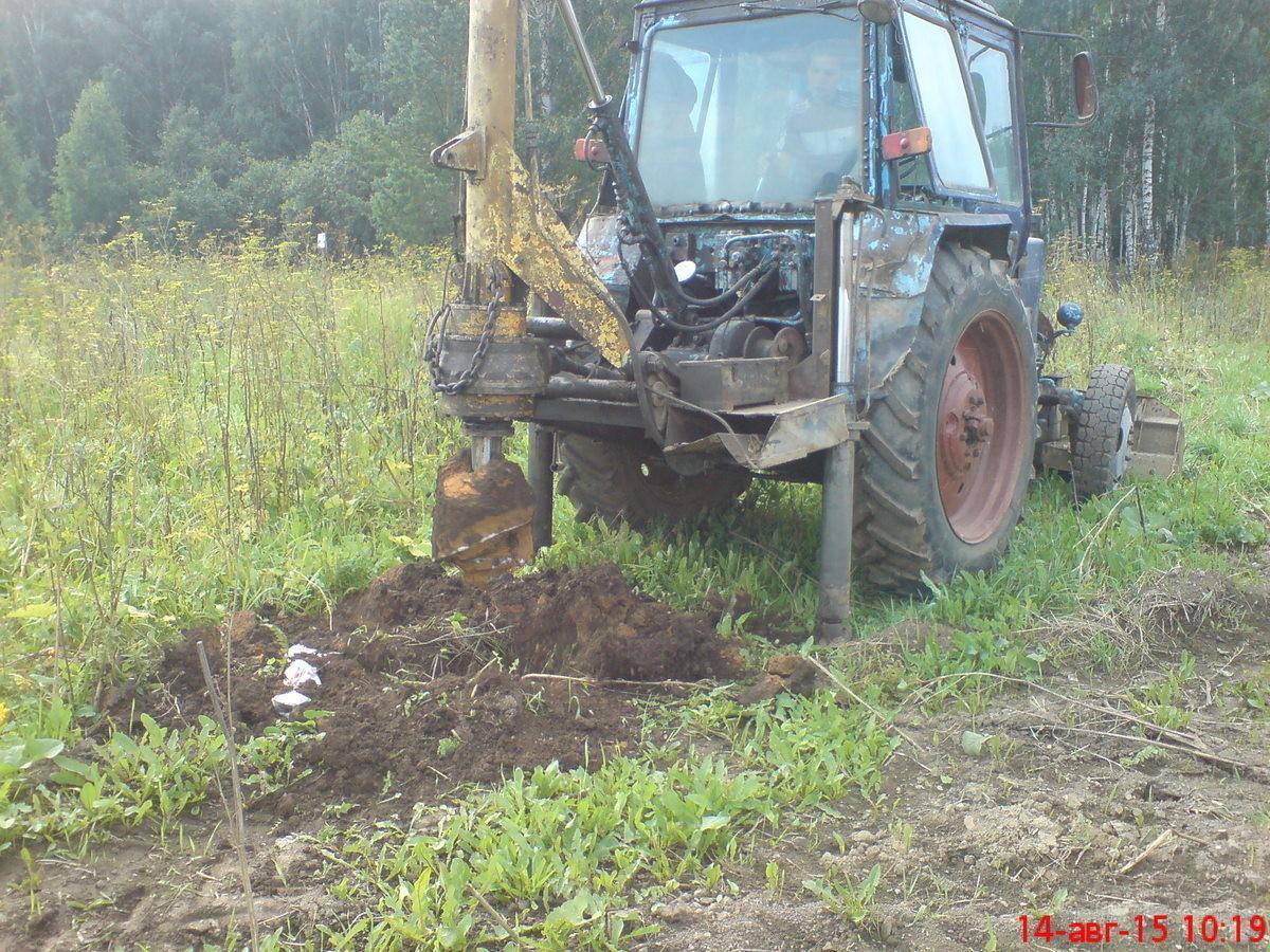 показать фото самодельного ямобура на трактор мтз семье